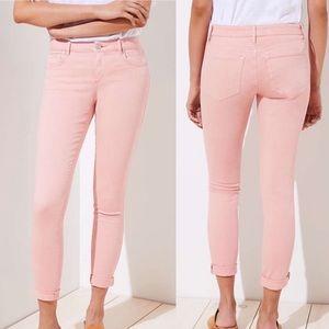 Loft curvy straight blush pink jeans, size 28